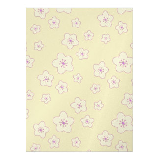 Cute Pastel Pink Cherry Blossom Pattern Announcement