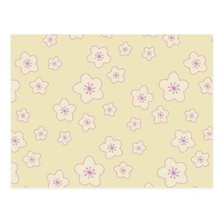 Cute Pastel Pink Cherry Blossom Pattern Post Card