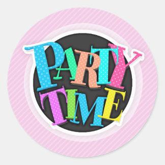 Cute Pastel Pink Diagonal Stripes; Striped Sticker