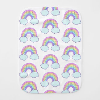 Cute Pastel Rainbow Burp Cloth