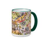 Cute Pastel Tones Floral Design Doodle Style