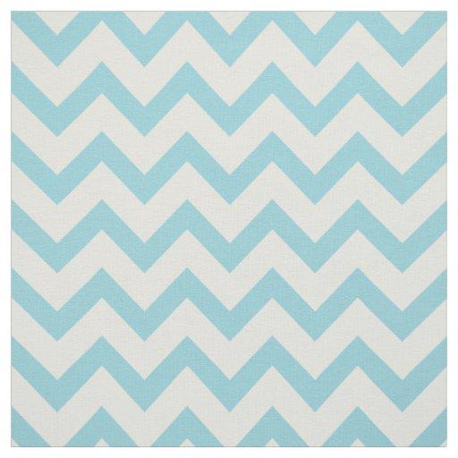 Cute pastel turquoise chevron pattern fabric