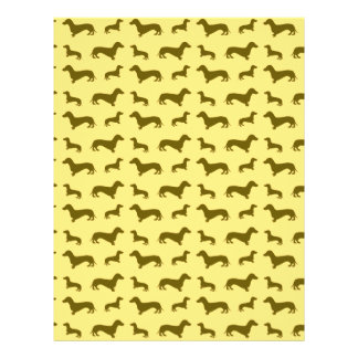 Cute pastel yellow dachshund pattern 21.5 cm x 28 cm flyer