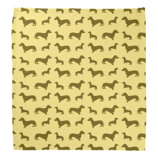 Cute pastel yellow dachshund pattern bandana