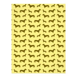 Cute pastel yellow dachshund pattern personalized flyer