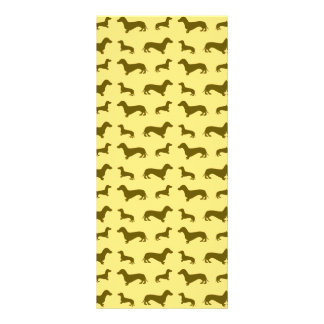 Cute pastel yellow dachshund pattern full color rack card