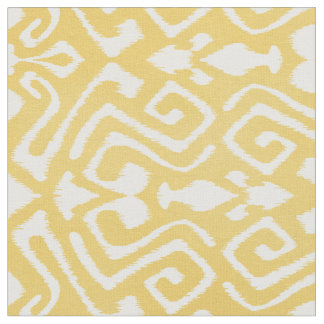 Cute pastel yellow ikat tribal patterns fabric