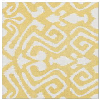 Cute pastel yellow ikat tribal patterns fabric