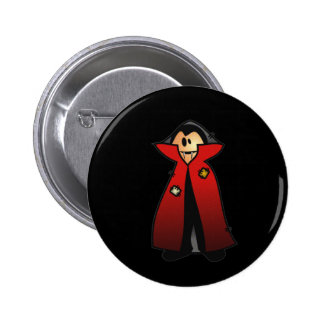 CUTE PATCHY DRACULA VAMPIRE BUTTON