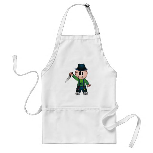 CUTE PATCHY KNIFE-WIELDING KILLER APRONS