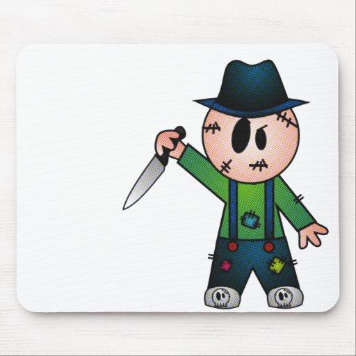 CUTE PATCHY KNIFE-WIELDING KILLER MOUSEPADS