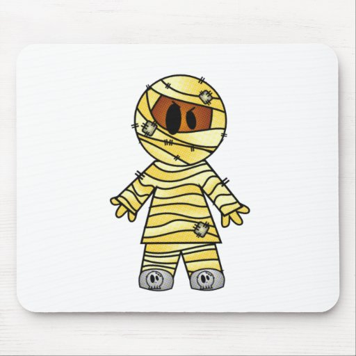 CUTE PATCHY MUMMY MOUSE PADS