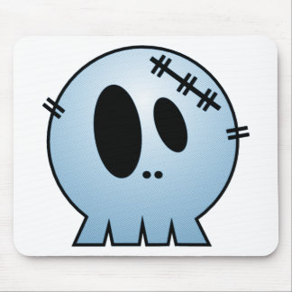 CUTE PATCHY SKULL - BLUE MOUSE PAD