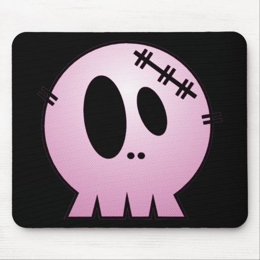 CUTE PATCHY SKULL - PINK MOUSEPAD