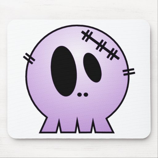 CUTE PATCHY SKULL - PURPLE MOUSEPADS