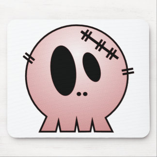 CUTE PATCHY SKULL - RED MOUSE PADS