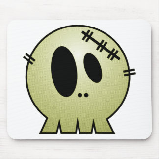 CUTE PATCHY SKULL - YELLOW MOUSE PAD