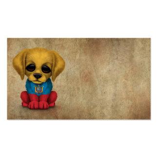 Cute Patriotic Ecuadorian Flag Puppy Dog, Rough Pack Of Standard Business Cards