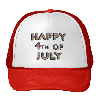 Cute Patriotic Happy 4th of July Hat