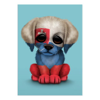 Cute Patriotic Slovakian Flag Puppy Dog, Blue Pack Of Chubby Business Cards