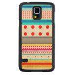 Cute Pattern Gingham Striped Fun Maple Galaxy S5 Slim Case