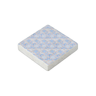 Cute Pattern in Shades of Blue Stone Magnet