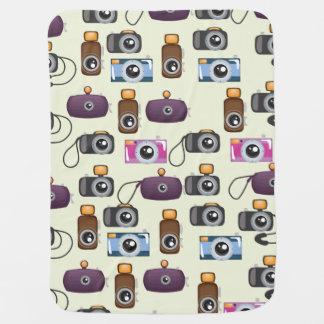 Cute Pattern of Cameras Baby Blanket