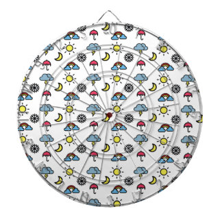 cute pattern weather dartboard