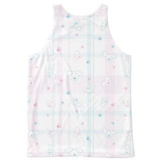 Cute pattern with dogs All-Over print tank top