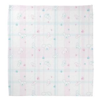 Cute pattern with dogs bandana