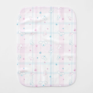 Cute pattern with dogs burp cloth