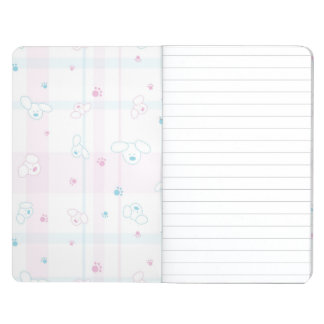 Cute pattern with dogs journal