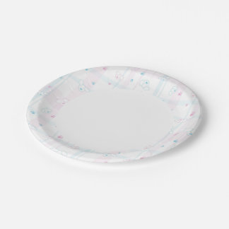 Cute pattern with dogs paper plate