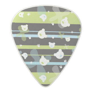 Cute pattern with little bears acetal guitar pick