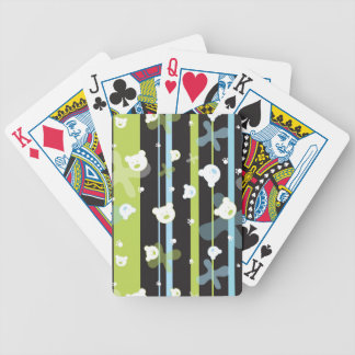 Cute pattern with little bears bicycle playing cards