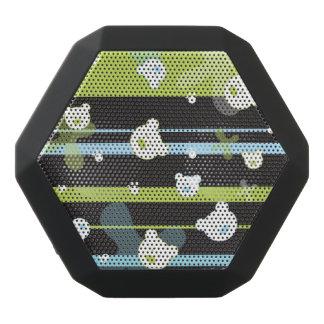 Cute pattern with little bears black bluetooth speaker