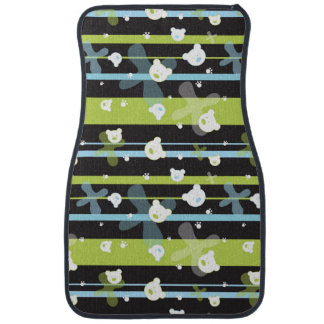 Cute pattern with little bears car mat