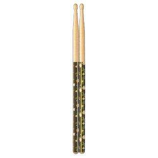 Cute pattern with little bears drumsticks