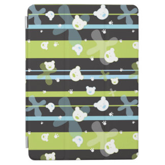 Cute pattern with little bears iPad air cover
