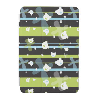 Cute pattern with little bears iPad mini cover