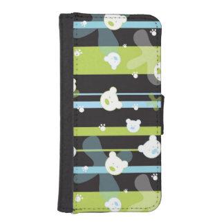 Cute pattern with little bears iPhone SE/5/5s wallet case