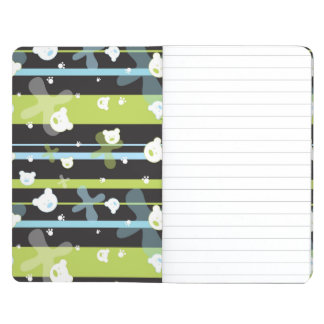 Cute pattern with little bears journal
