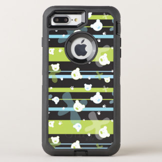 Cute pattern with little bears OtterBox defender iPhone 8 plus/7 plus case