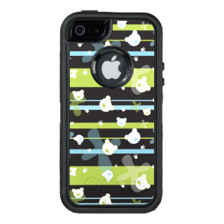 Cute pattern with little bears OtterBox defender iPhone case
