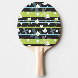 Cute pattern with little bears ping pong paddle
