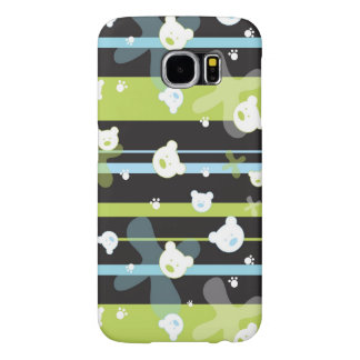Cute pattern with little bears samsung galaxy s6 cases