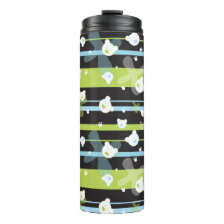 Cute pattern with little bears thermal tumbler