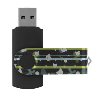 Cute pattern with little bears USB flash drive