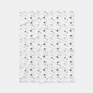 Cute Paw Print Pattern Fleece Blanket