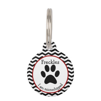 Cute Paw Print Personalized Pet Tag